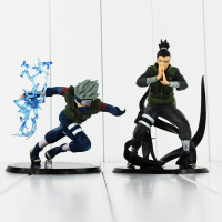 2Styles Hatake Kakashi Nara Shikamaru PVC Action Figure Toys NarutoCollectible Model Dolls 12 15cm