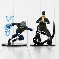 2Styles Hatake Kakashi Nara Shikamaru PVC Action Figure Toys NarutoCollectible Model Dolls 12 15cm