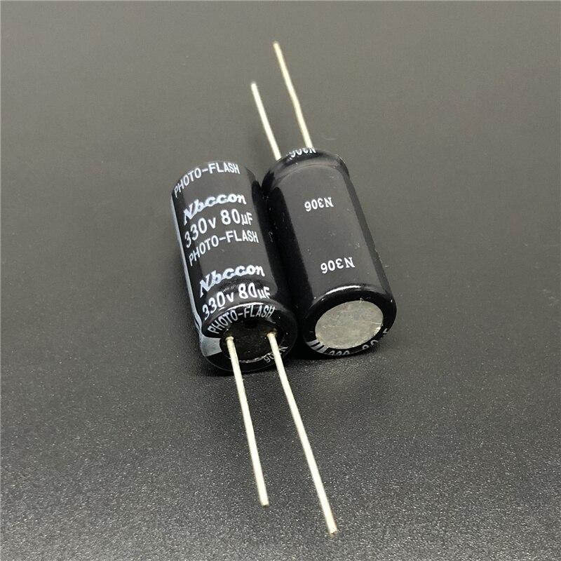 5pcs Nbccon Photo Flash PH capacitor 330V80uf 330V 12.5x25mm