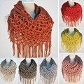Moda Feminina Inverno Quente Knit Loop Infinito Borlas Cachecol Xale Macio Dois estilos e em linha reta