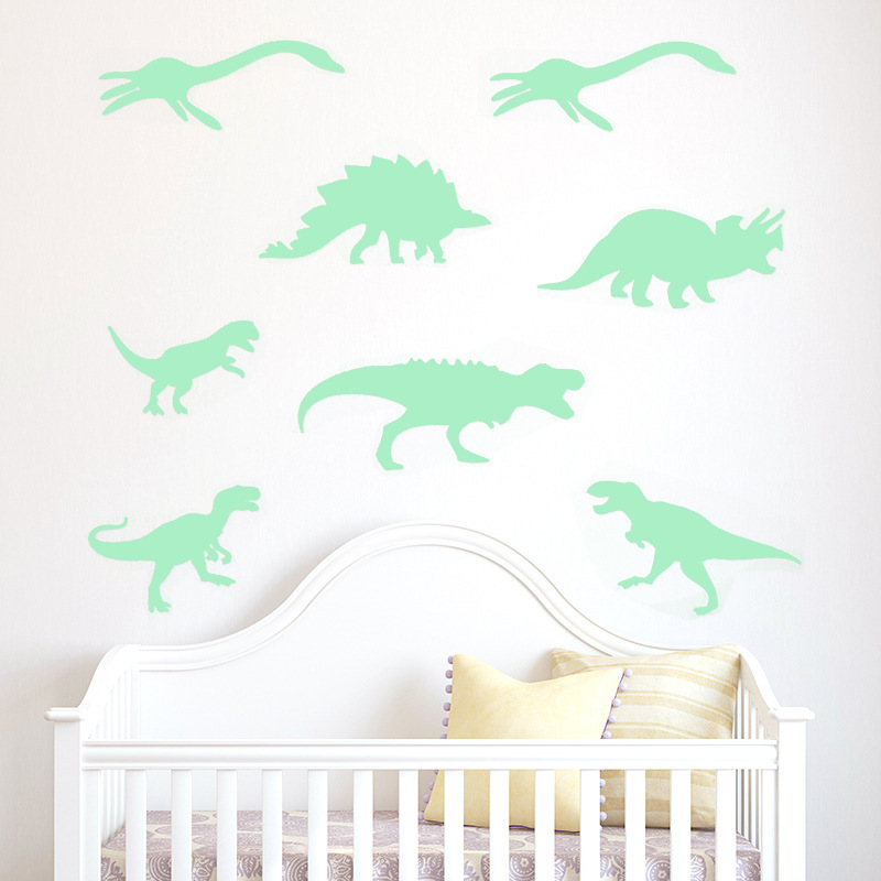 Luminous Dinosaur Wall Stickers Glow In The Dark Kids Baby Bedroom  Fluorescent Night Light Stickers Home Decor Wall Decal In Wall Stickers  From Home ...