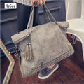 2016 Fashion Rivet Women handbag Frosted Women messenger bag Large capacity women tote Shoulder bag Ladies Tassel Bag Women bag