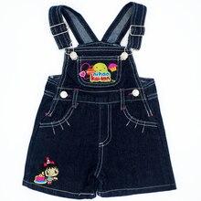 Patrón encantador color al azar bebé Niños Niñas babero Vaqueros Monos Honda Pantalones niños Denim general Pantalones marca niños ropa