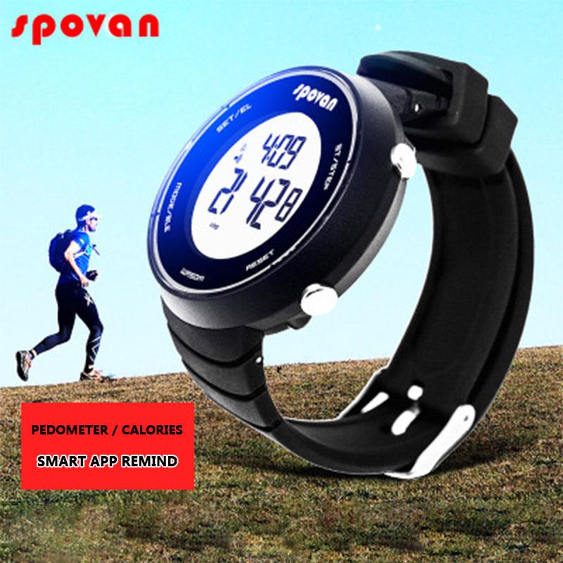 SPOVAN Akıllı Spor Kadın Erkek Dijital LED için Saatler Izle Kalp - Erkek Saatleri - Fotoğraf 1