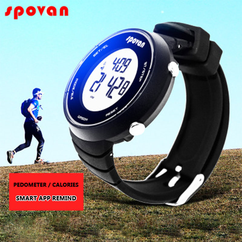 SPOVAN Smart Sports Watches for Women Men Digital LED Watch Heart - Men's Watches