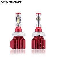 NOVSIGHT H15 Car LED Đèn Pha LED Chùm Kép Fog Light Bulbs Auto Driving Đèn Sương Mù 60 Wát 10000LM 6500 K D42