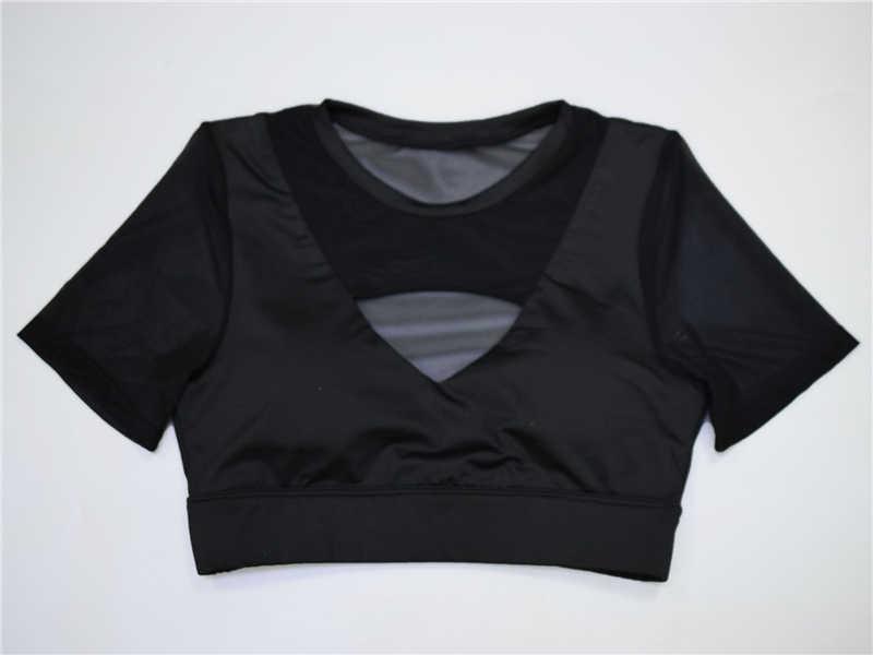 Push Up Bra Olahraga Empuk Olahraga Kebugaran Atas Wanita Mesh Yoga Bra Dampak Tinggi Bernapas Olahraga Pakaian Dalam Menjalankan Kebugaran Tank top