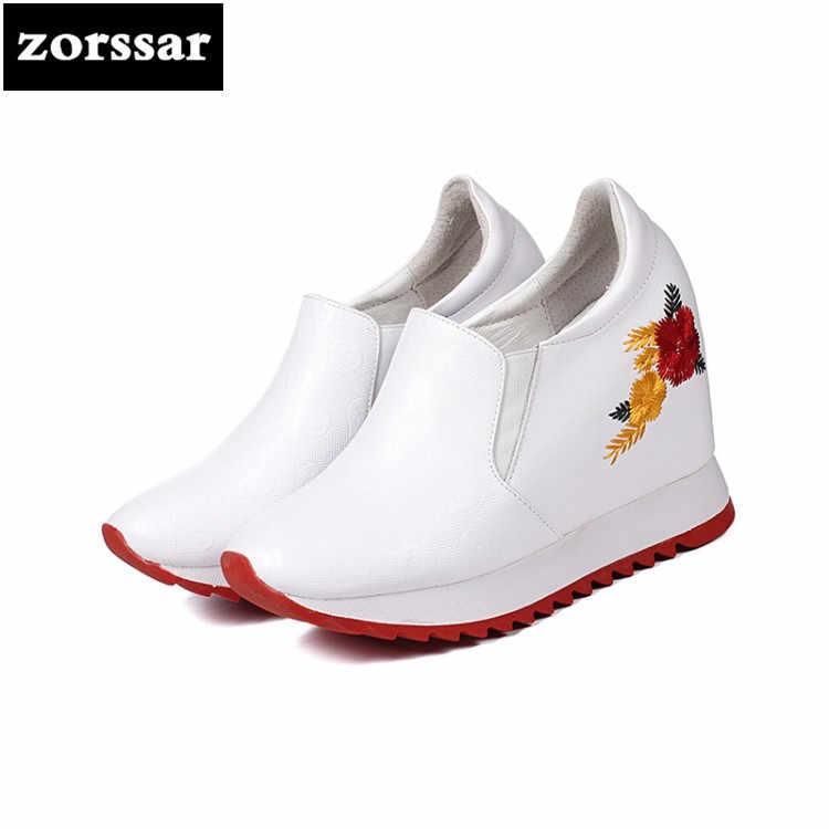 {Zorssar} hohe ferse Stiefeletten Frauen Höhe Zunehmende Plattform Casual Schuhe Frau Frühling Herbst Versteckte Keile Sneaker schuhe