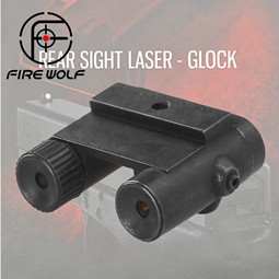 FIRE WOLF Tactical Steel Rear Sight Laser Red Dot Laser Sight for All Pistol Glock Series Hunting Scope Laser Sight
