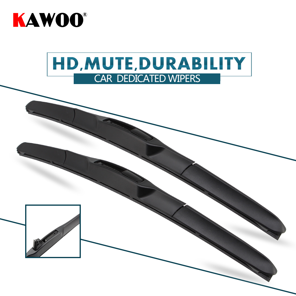 KAWOO 2pcs Car Wiper Blade 22+22 For Cadillac Escalade (2009-2013) Auto Soft Rubber Windcreen Wipers Blades Car Accessories