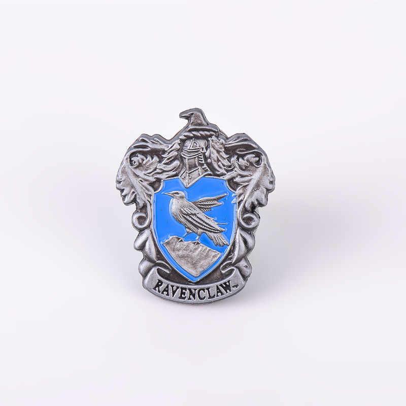 1 pçs hogwarts escola emblema pinos broche gryffindor ravenclaw slytherin hufflepuff emblema cosplay coleção presente acessórios