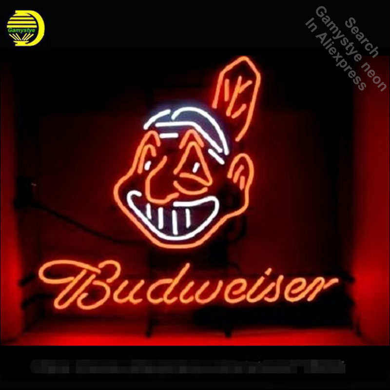 Budweiser Sport Neon Sign neon bulb Sign neon lights for Beer Bar Pub Room glass Tube Handcraft Lamps Iconic Sign store Display