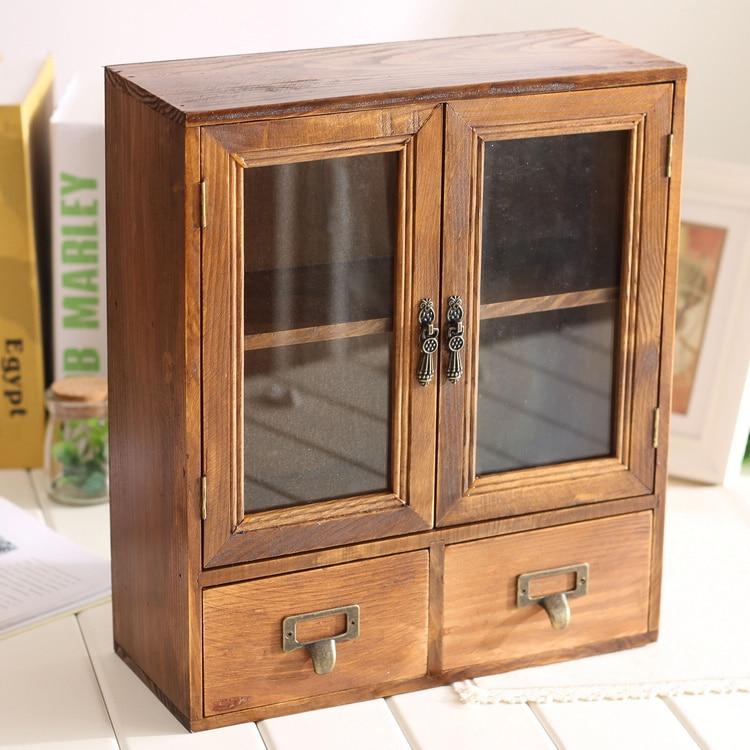 retro cabinet desk organizer 36 12 30 8cm in storage boxes bins from home garden on. Black Bedroom Furniture Sets. Home Design Ideas