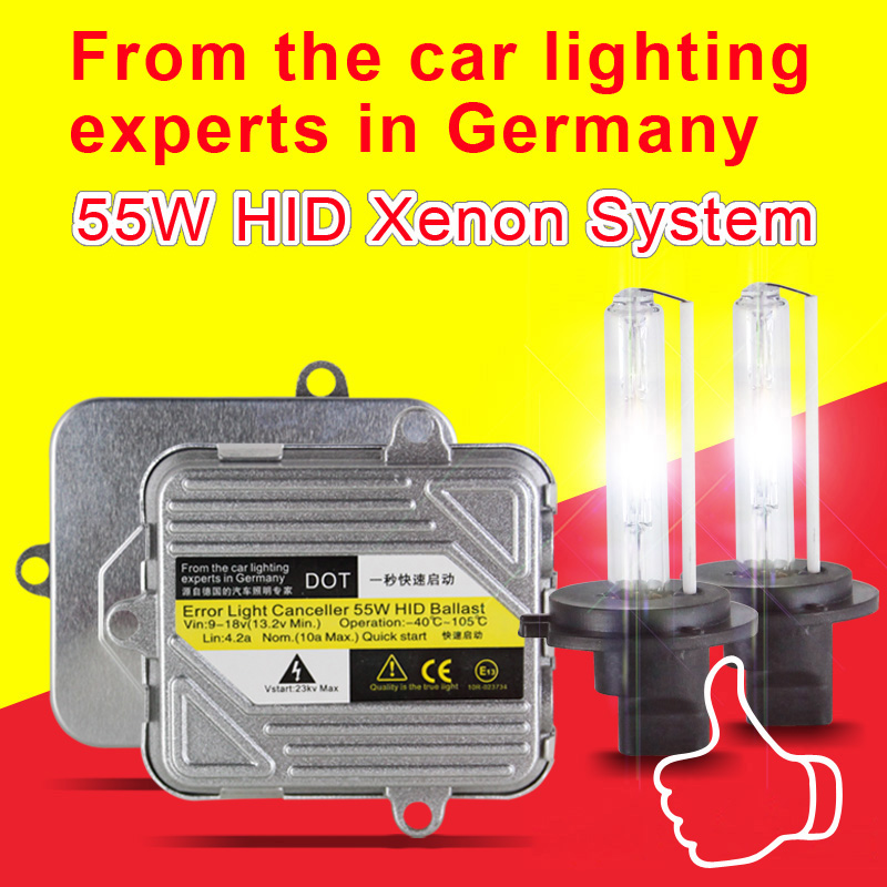 1 Set Fast Bright 55W Xenon H3 HID Kit H1 H7 H8 H9 H11 9005 Original Canbus Hid Xenon Kit 3000K 4300K 6000K 8000K Slim Ballast