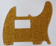 Tele Guitar Humbucker Scratch Plate Pickguard for  Mexican Fender Gold Sparkle