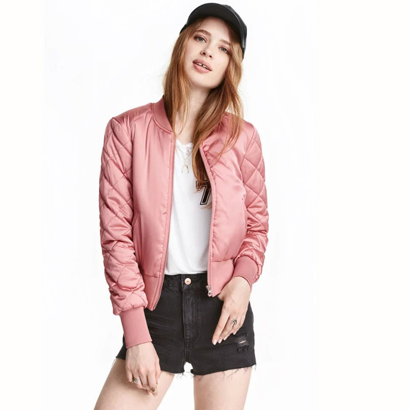 9 Colors Women Autumn   Basic     Jackets   Slim Short Ladies Winter Clothes   Jacket   Fashion Casual Female Zipper Pockets Outwear MLD1172