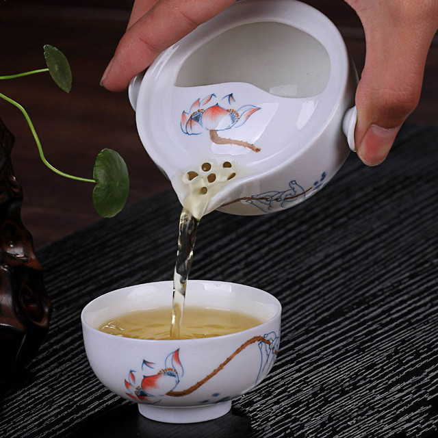 Travel Chinese Gaiwan and Cup Set