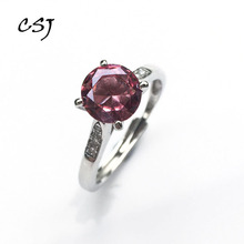 CSJ Round 8.0mm Zultanite change color Ring Sterling 925 Silver Created Fine Jewelry mom or madam Wedding Gift box