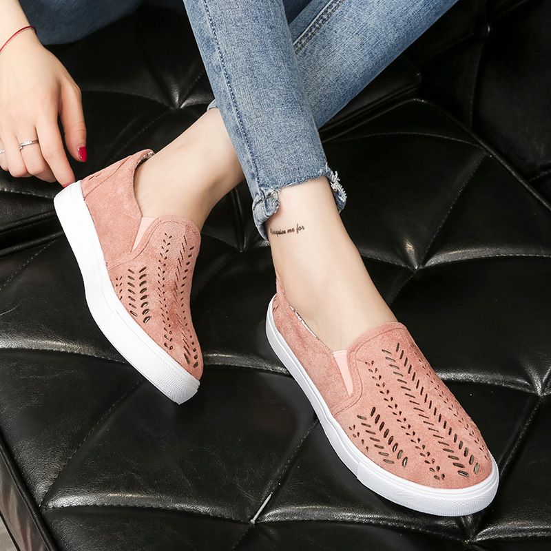 Designer Summer Women Sneakers Suede Flat Casual Shoes ladies Shallow Slip On Loafers Zapatos Mujer Plus Size 35-43 new shallow slip on women loafers flats round toe fishermen shoes female good leather lazy flat women casual shoes zapatos mujer