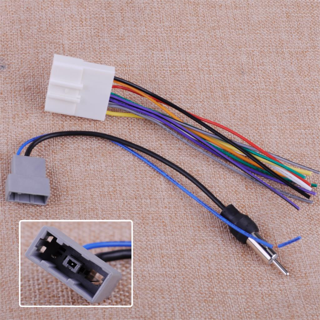 hight resolution of car dvd radio install stereo wire harness cable plugs antenna adapter fit for nissan altima armada