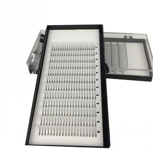 Image 2 - ME.LASH 20 Trays/lot Wholesale C and D Curl 3D Grafted Planting Cluster Eyelashes Korea Premade Fans 9mm to 15mm Free Shipping