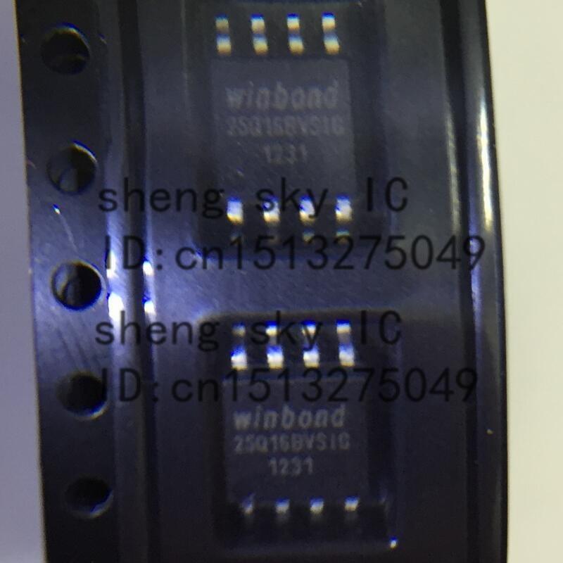 FREE SHIPPING 100PCS 25Q16 W25Q16BV 25Q16BVSIG SOP8 SMD WINBOND 16M-BIT SERIAL FLASH MEMORY WITH DUAL AND QUAD SPI IC
