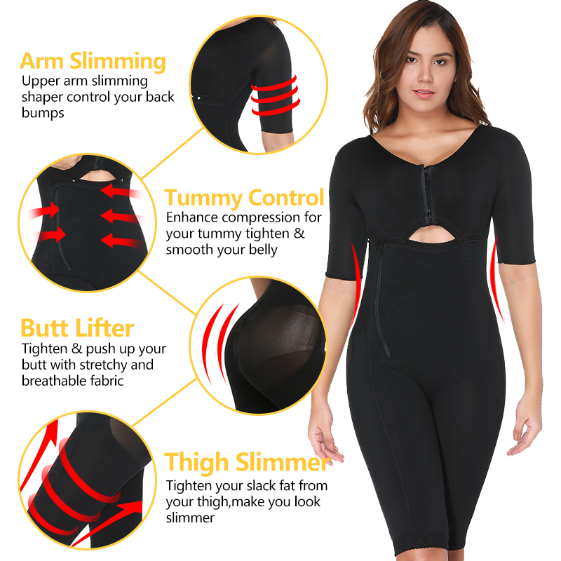 VASLANDA Womens Full Body Shaper Postpartum Recovery Slimming Underwear Waist Corset Girdle Bodysuits Fat Reductora Shapewear in Bodysuits from Underwear Sleepwears
