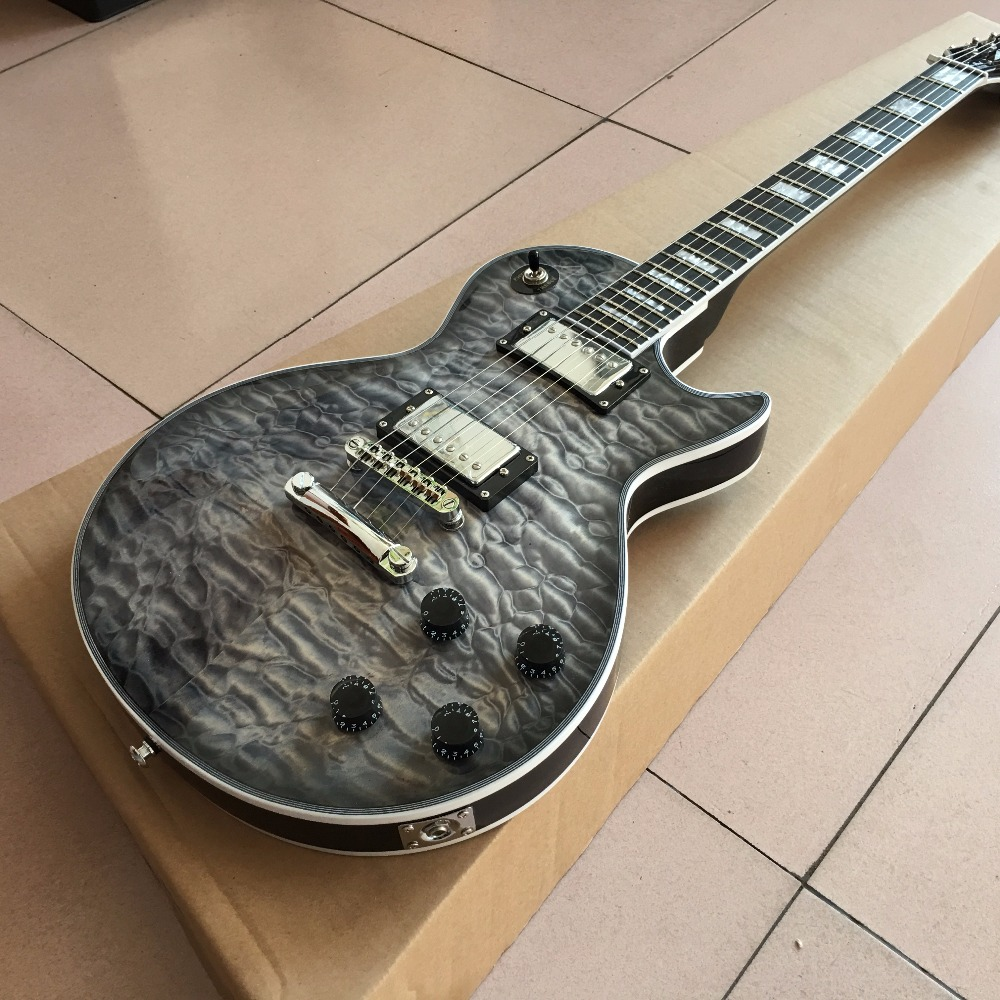 Custom Shop exclusive LP standard electric guitar nice flame maple cover AAA Mahogany body Real photo shows custom shop new lp standard 1959 r9 electric guitar flame maple top rosewood electric guitar with hard case free shipping