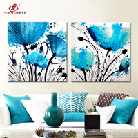 Oil Painting By Number Abstract Blue Flower Decoration Home Decor On Canvas Modern Wall Picture For