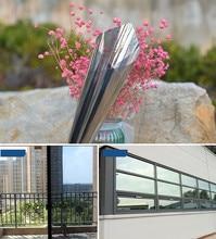 16cm x 10m Silver Reflective One Way Window Film Foil Mirror Privacy Sticky Glass Insulation