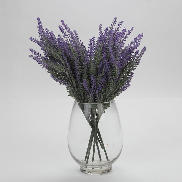 38cm Artificial Lavender Flowers Wedding Christmas Party Table Decoration Bouquet 25 Head For One Pcs Simulation
