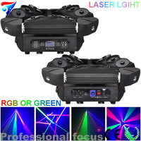 Free Shipping 2pcs Lot 9 Eyes Moving Head Spider Laser Light 3x3 Led Laser Stage Lighting