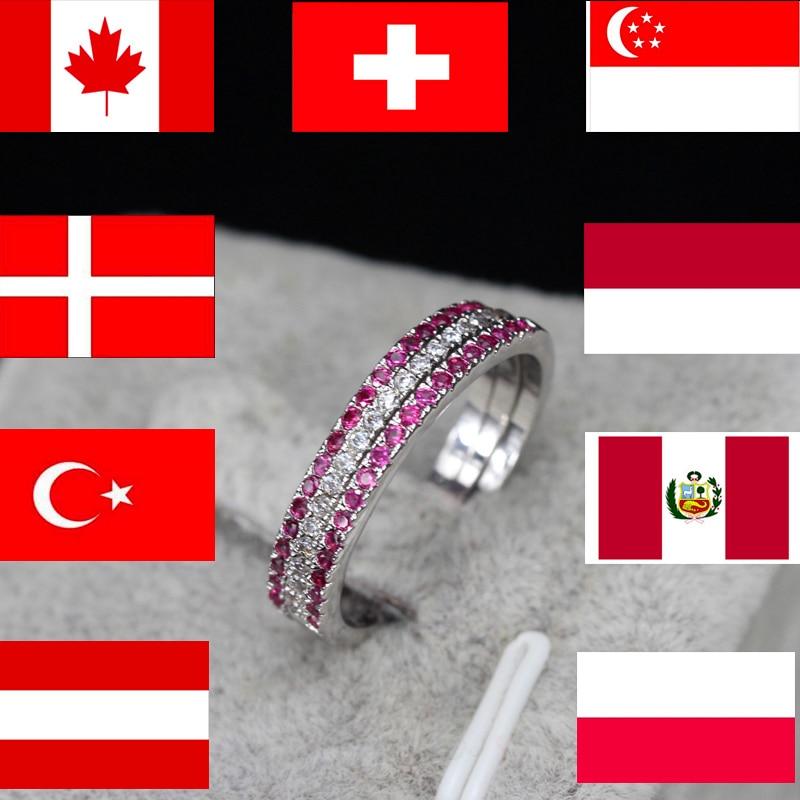 CWWZircons blagovna znamka moda 3 kos Engegament poročni prstan set - Modni nakit - Fotografija 4