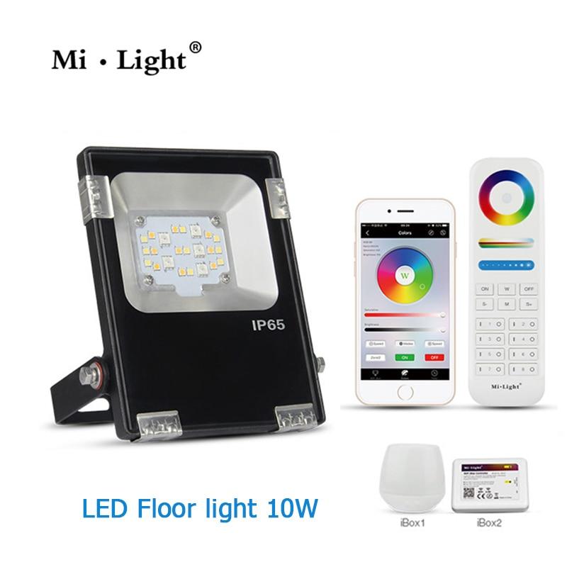Mi Light AC110V 220V 10W RGB + CCT LED Floodlight IP65 Waterproof AC85-265V  Outdoor Lighting For Garden
