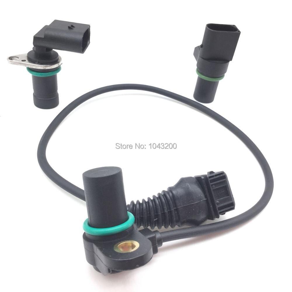 3 قطعة كمية + العادم كاميرا عمود الحدبات + الساعد العمود المرفقي مستشعر موضع PC310 ل BMW 3 5 7 E46 E39 E53 E60 X3 X5 Z4 OE #12141438081