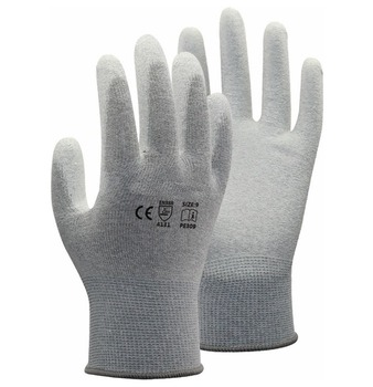 цена на Carbon liner ESD Safe Anti static PU Palm Coated Work Gloves