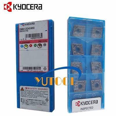 New 10pcs KYOCERA Carbide insert CNMG120404HQ PR1125 CNC Turning insert  цены