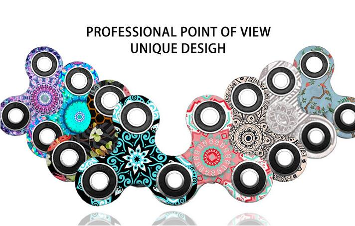 Ceramics Bearing Tri-Spinner ABS EDC Hand Spinners For Autism And ADHD  Spinner Anti Stress Kids Toys Long Spin Times