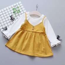 Princess Baby Girl Dress Long Sleeve Baby Dresses Autumn Fashion Patchwork Kids Dresses For Girls baby girl clothes pretty girls dress lovely floral print long sleeve flower kids dress princess dresses spring autumn 2 colors