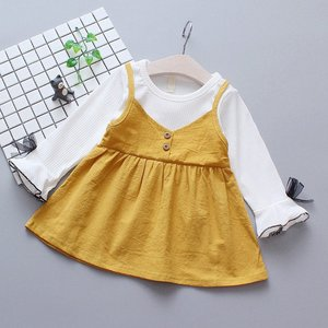 Princess Baby Girl Dress Long Sleeve Baby Dresses Autumn Fashion Patchwork Kids Dresses For Girls