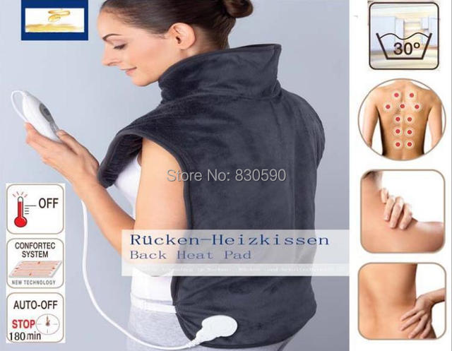 Quality  physiotherapy electric heating vest back support shoulder pad vest heated shawl suitable for back pain relief