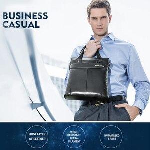 Image 3 - BISON DENIM torebka ze skóry naturalnej biznesowa torba męska listonoszka iPad skórzana torba na ramię Crossbody męskie torby N2202