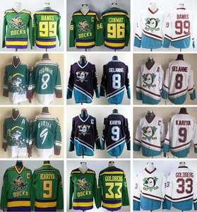 bd284e79b Dwayne  9 Paul Kariya 96 Charlie Conway 99 Adam Banks Movie Hockey Jerseys  Stitched