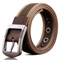 BooLawDee Active style teenage 110cm pin buckle canvas belt 3.8cm width for  street casual wear accessories 8D011