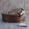 Antigo rodada sala de lazer cadeira cadeira do sofá do saco de feijão otomano móveis feitos na China por DHL
