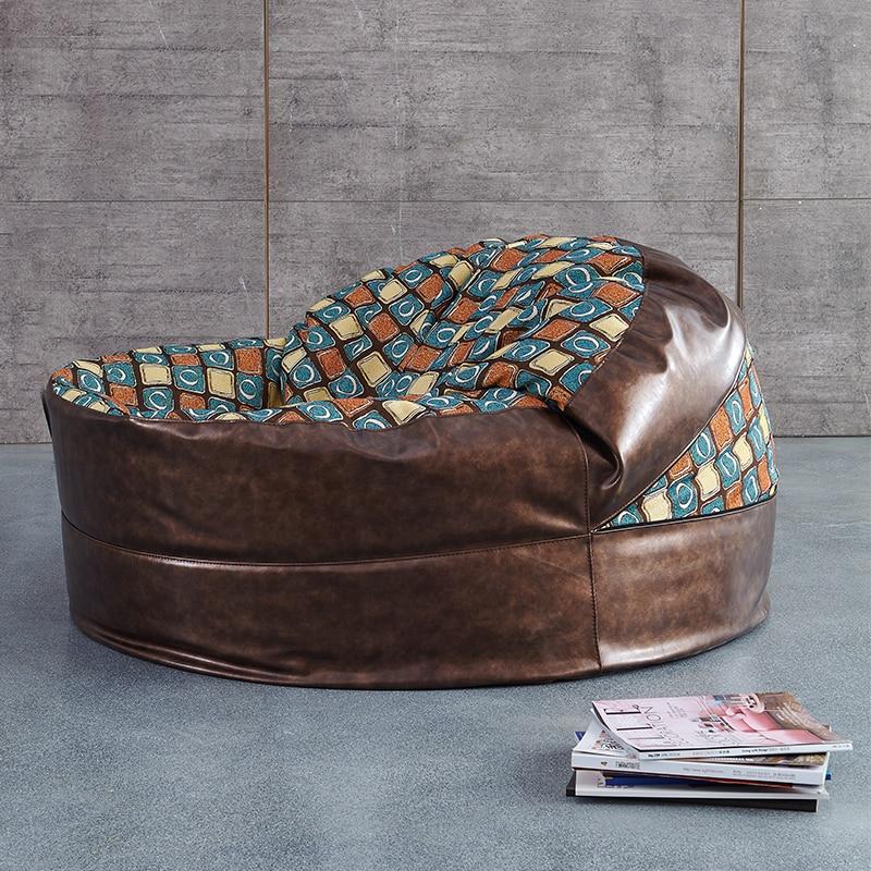 Antiguo ronda sofá bolsa de frijol Silla de salón muebles ocio ...