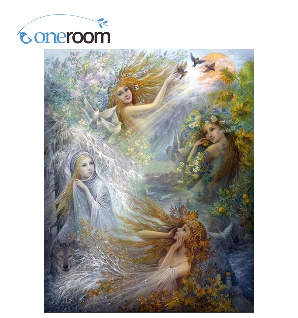 3D Diy Diamond painting Fairies and doves in sky Needlework Embroidery Resinstone Diamond Cross Stitch Mosaic Decoration