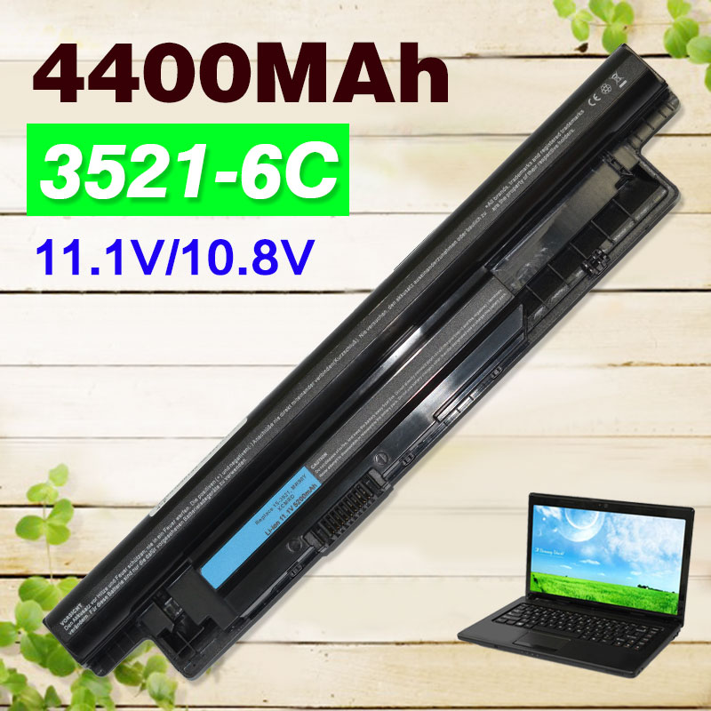 4400mAh 11.1V Laptop Battery For DELL Inspiron 3521 17R 5721 15R 5521 15 14R 5421 14 3421 VR7HM W6XNM mr90y YGMTN XRDW2 T1G4M laptop battery for dell inspiron 17r 5721 17 3721 15r 5521 15 3521 14r 5421 14 3421 mr90y vr7hm w6xnm x29kd vostro 2521