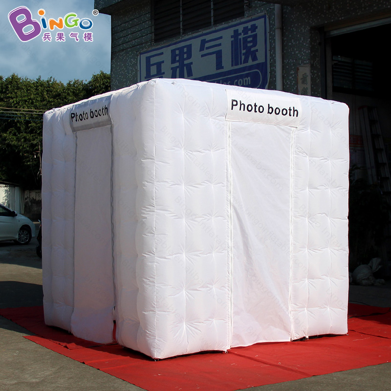 Customized 2.4X2.4X2.4m inflatable photo booth with blower advertising cube tent for commercial show inflatable kiosk toy tent attractive advertising inflatable booth white or colorful inflatable cube tent