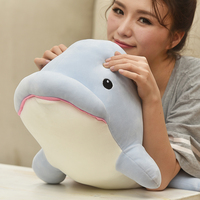 big plush whale toy big head blue whale doll gift about 70cm